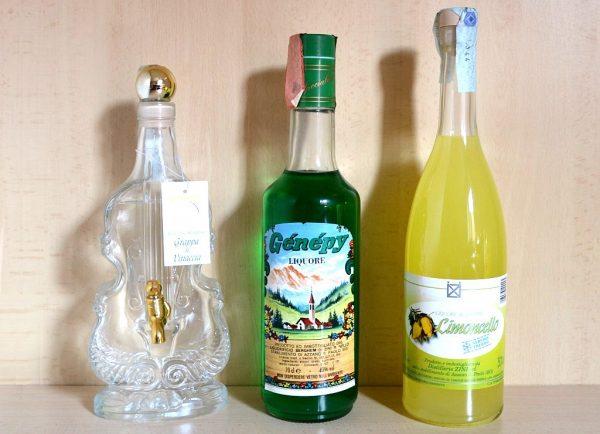 Grappa di Vinaccia Genepy Limoncello - bottiglie regalo grappa e liquori