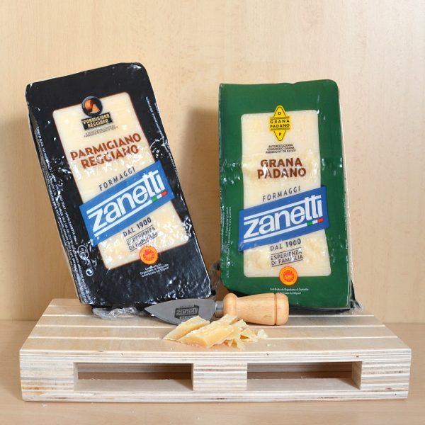 Parmigiano Reggiano + Grana Padano + Tagliagrana Omaggio