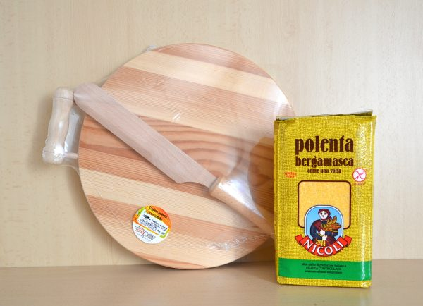 Confezione regalo tagliere e farina per polenta bergamasca - 1