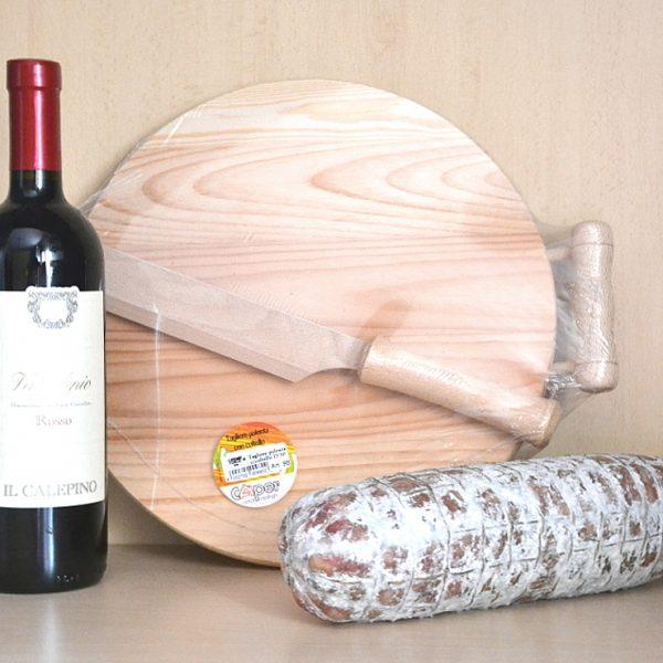 Tagliere Polenta + Vino Rosso Valcalepio + Salame Nostrano Bergamasco 900 Gr