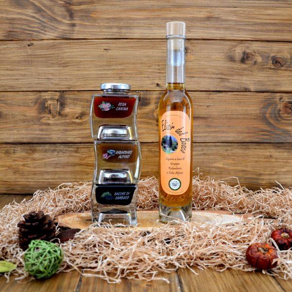 Sapori spontanei orobici – confezione regalo con marmellate e liquore