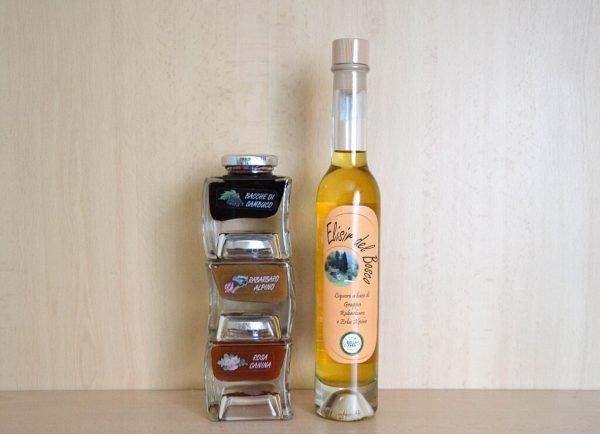 Sapori spontanei orobici - confezione regalo con marmellate e liquore