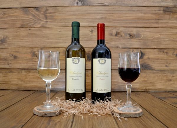 Bottiglia Vino Rosso + Vino Bianco Valcalepio D.O.C.