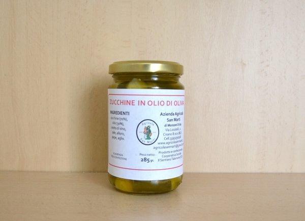 Zucchine in olio di oliva