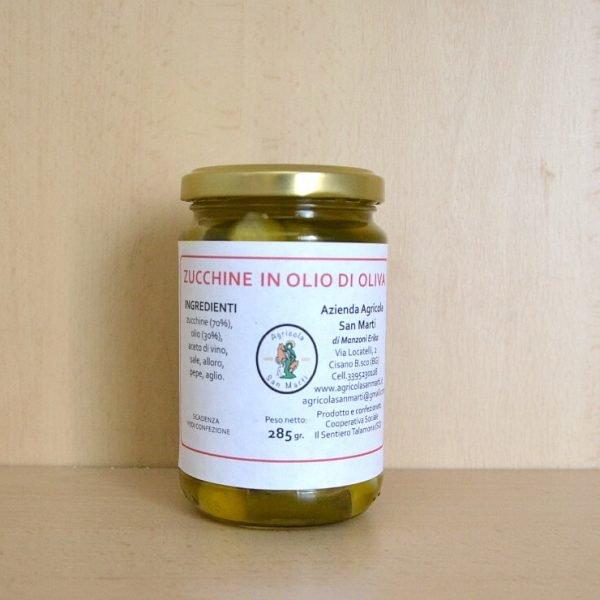 Zucchine in olio d'oliva