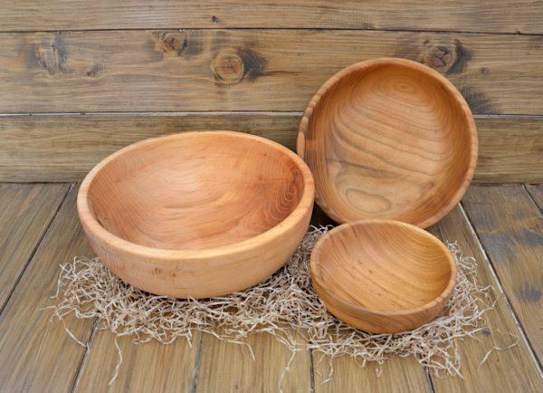 set ciotole legno