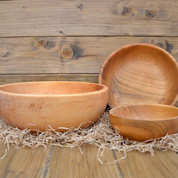 Set ciotole in legno