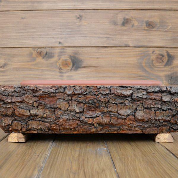 Portavasi in legno (con vaso)