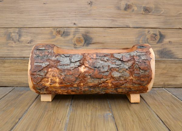 tronchetto in legno portafiori